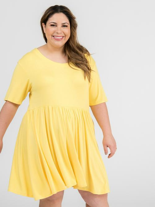 XXS Agnes & Dora™ Modern Tunic Dress Sunflower Yellow