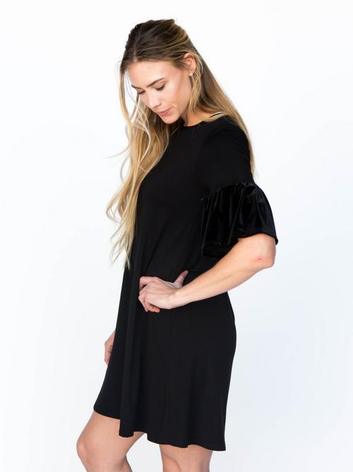 Small Agnes & Dora™ Adore Tunic Dress Black