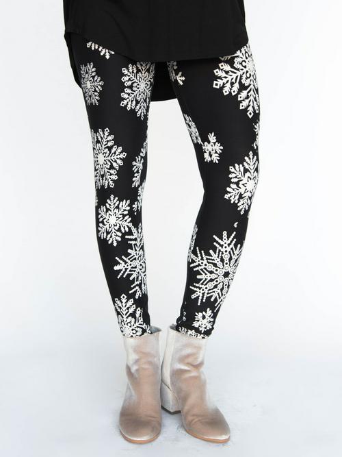 XS Agnes & Dora™ Leggings Let it Snow Black