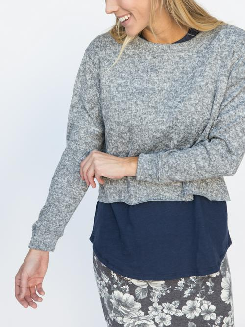 XS, S, 3XL Agnes & Dora™ Pullover Heather Grey