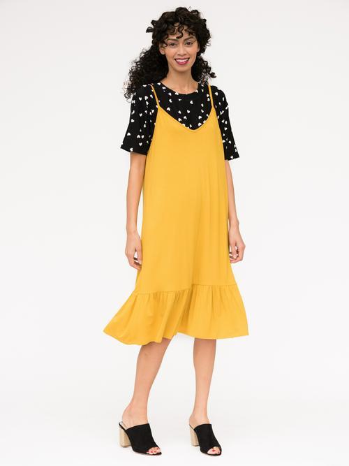 M, L, XL, 3XL Agnes & Dora™ Slip Dress Sunflower