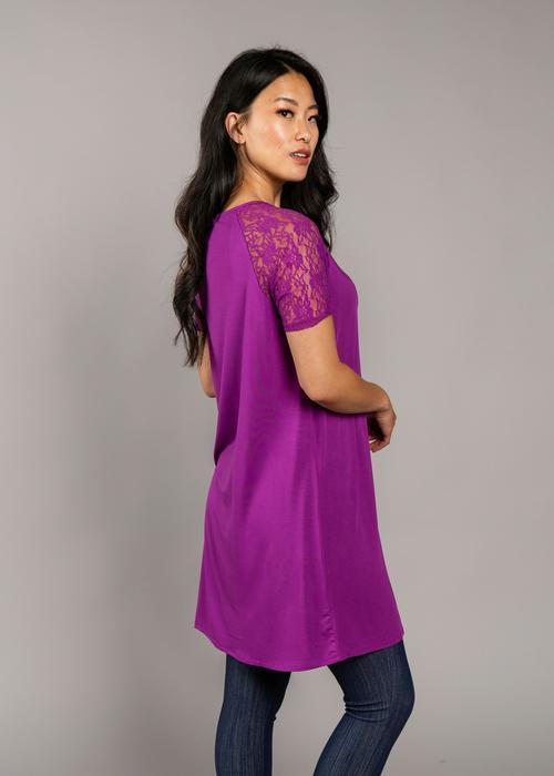 XXS, 2XL Agnes & Dora™ Lace Raglan Dress Amethyst
