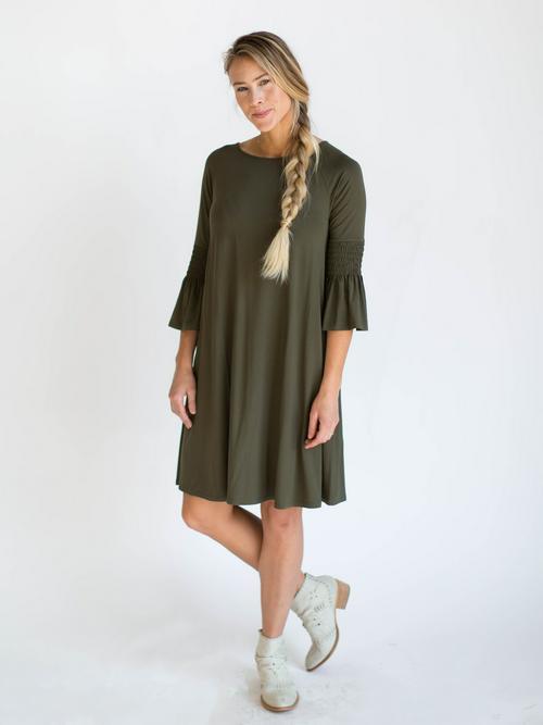 Medium Agnes & Dora™ Bloom Dress Dark Olive