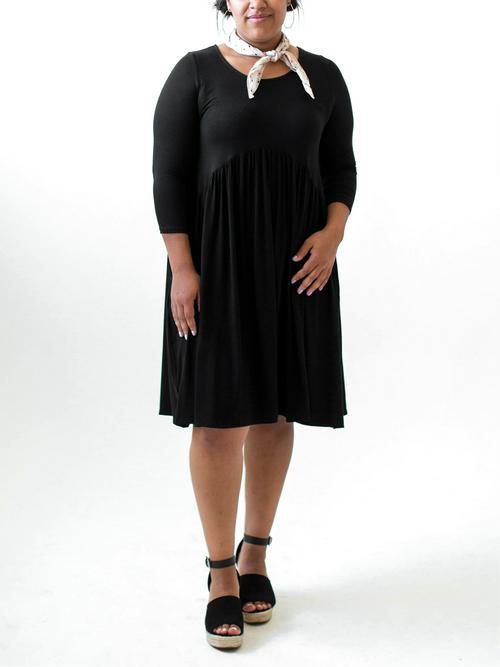 XL, 3XL Agnes & Dora™ Muse Midi Dress Black