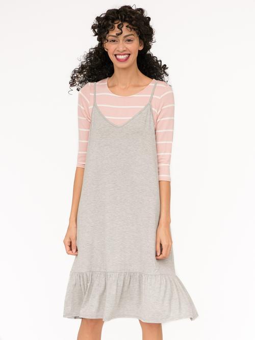XXS, S, M, L Agnes & Dora™ Slip Dress Heather Gray