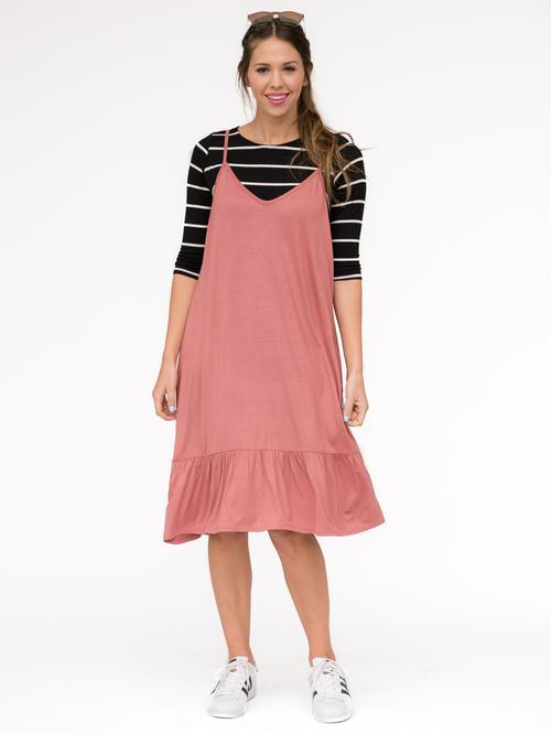 2XL, 3XL Agnes & Dora™ Slip Dress Vintage Clay