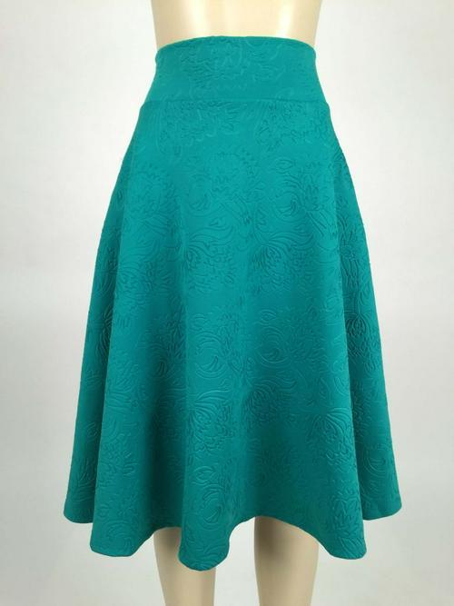 Small Agnes & Dora™ Plain and Simple in Emerald Midi Skirt