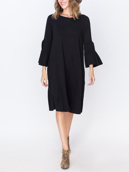 S, 2XL Agnes & Dora™ Bloom Dress Black Solid