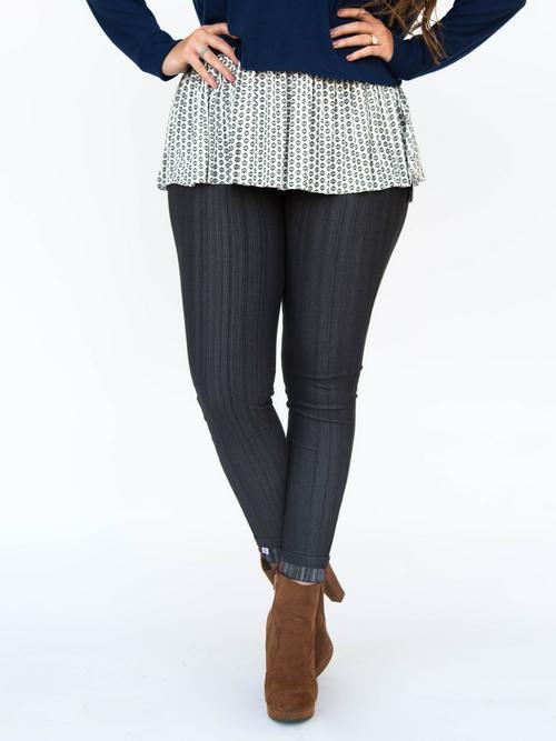 XS Agnes & Dora™ Knit Jeggings Charcoal Grey