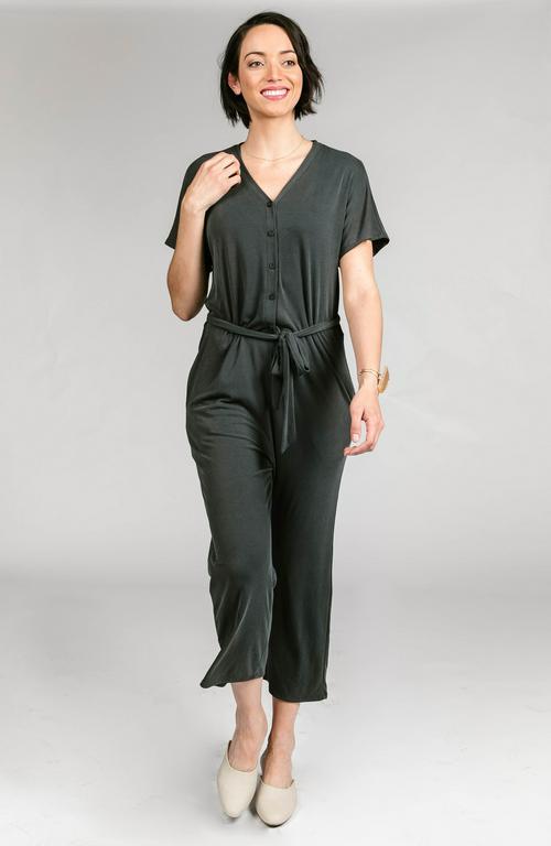 Agnes & Dora™ Belted Jumpsuit Black